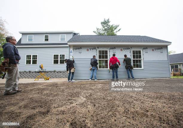 Students from the Biddeford Center of Technology renovated an abandoned house with help from the local Rotary Club Instructor Wayne Hapgood left...