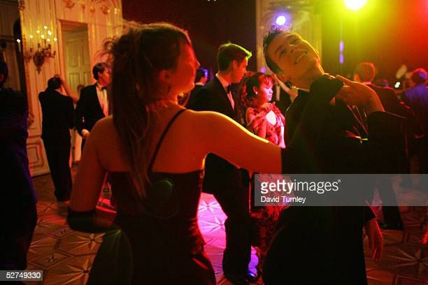 Students from the famous Elmayer School switch from waltzing to more modern dancing as the evening progresses March 19 2005 in Vienna Austria The...