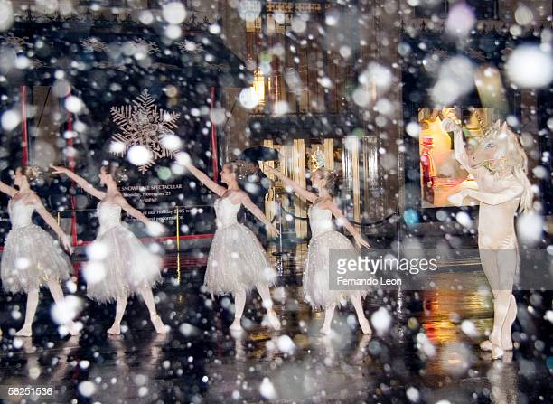 Students from the Jacqueline Kennedy Onassis School at American Ballet Theater perform 'The Land of Snow' from The Nutcracker during Sak's 5th...