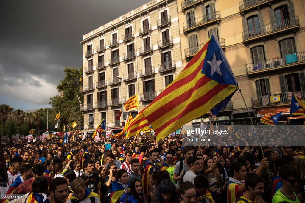 Preparations Are Made Leading Up To The Catalan Independence Referendum : News Photo