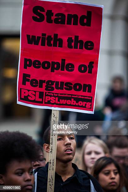 Students gather at American University in Washington to protest against the Ferguson grand jury decision to not indict officer Darren Wilson in the...