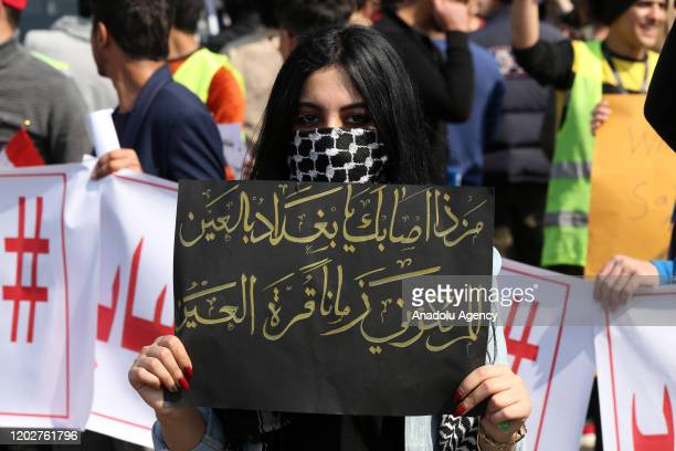 Students gathered in front of the Ministry of Higher Education and Scientific Research march towards Tahrir Square in support of the antigovernment...