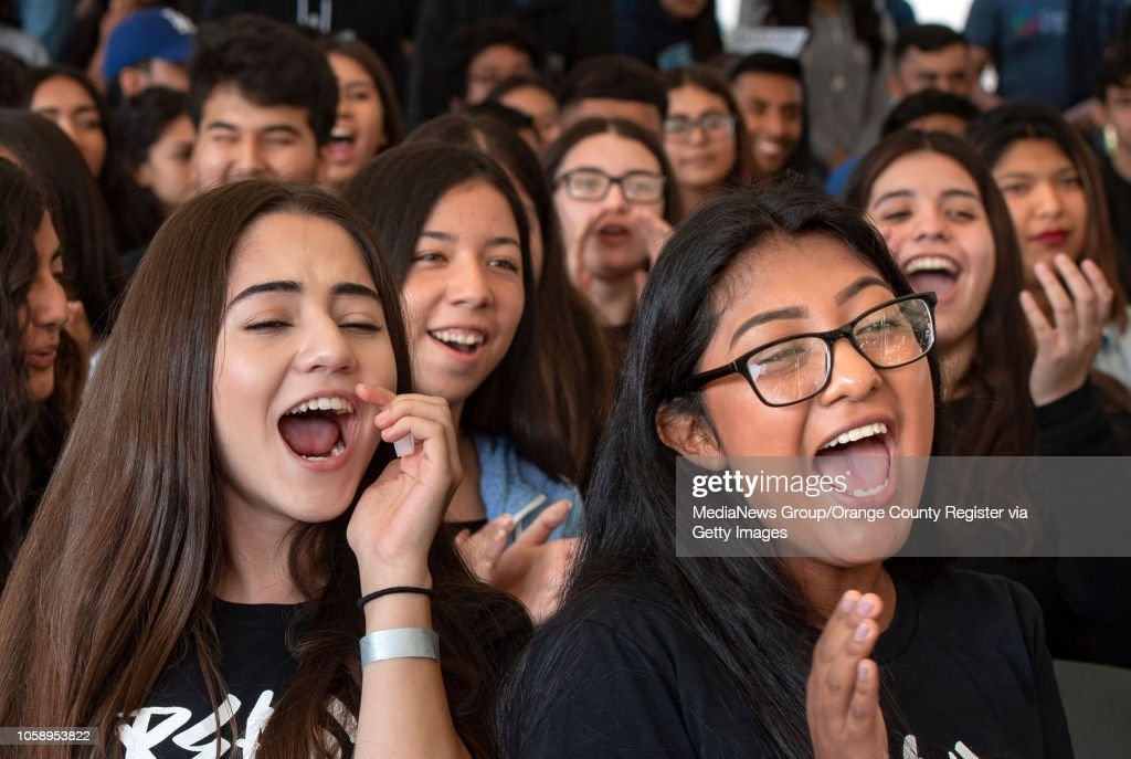 With Election Day Looming, Los Angeles 18-Year-Old Students Just Voted Early During Power California Event : News Photo