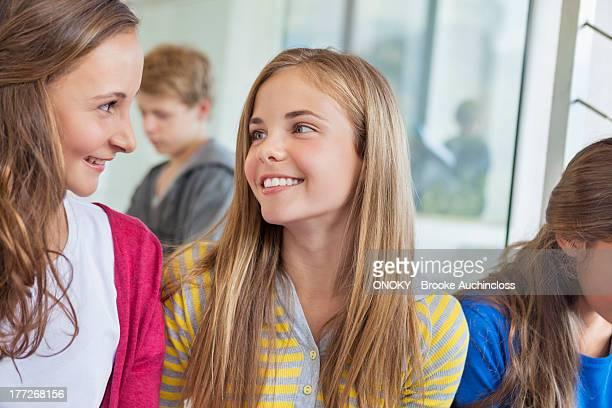 students having fun in a school - onoky stock-fotos und bilder