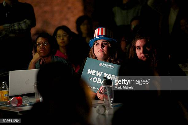Students held a debate watch party in the student center for the second Presidential Debate between Barack Obama and Mitt Romney at Hofstra...
