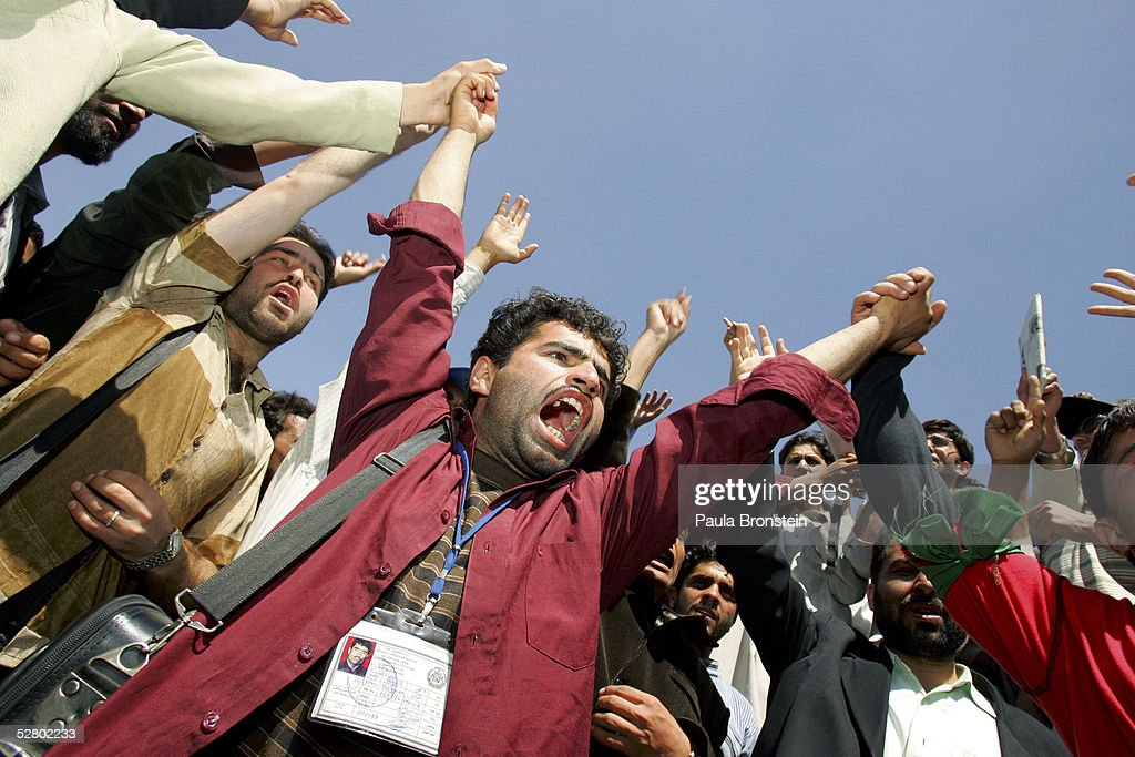 Students Hold Anti-American Protest In Kabul : Stock Photo