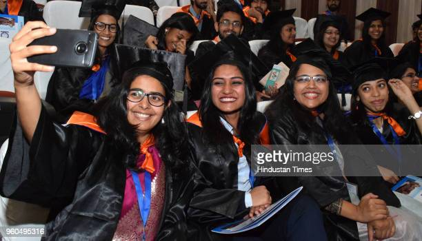 Students in a jubilant mood after receiving degrees during the 7th convocation of Indian Institute of Science Education and Research on May 20 2018...