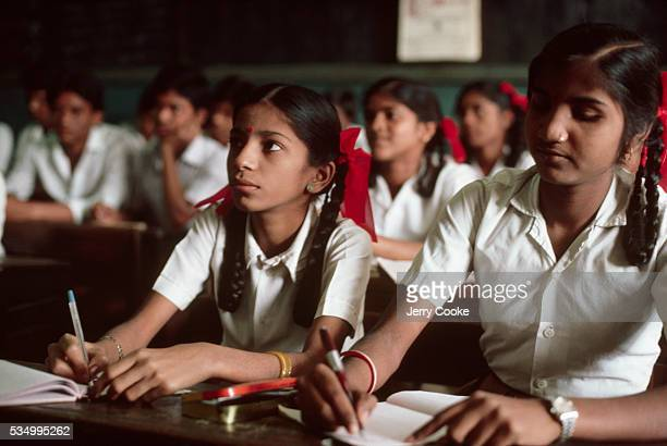 Students in a Private High School in Bombay