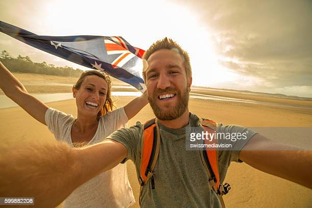 students in australia take selfie portrait - australia day stock pictures, royalty-free photos & images