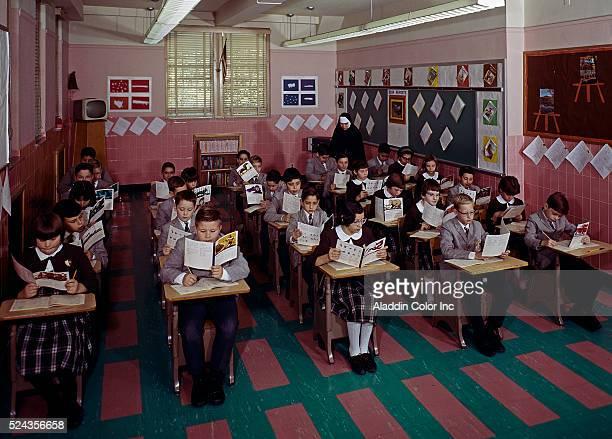 Students in class at St. John Villa Academy Catholic School
