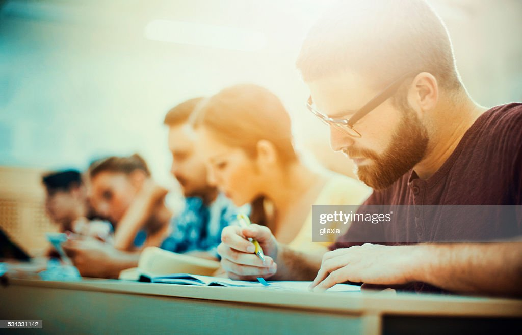 Students in class. : Stock Photo