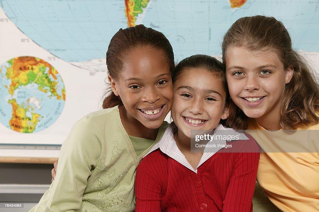 Students in classroom : Stockfoto