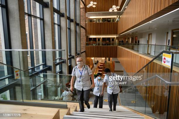 Students in Coventry University's Alison Gingell building at the beginning of the new academic year, at Coventry University, in Coventry, central...