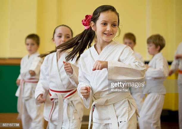 Students in Karate Class