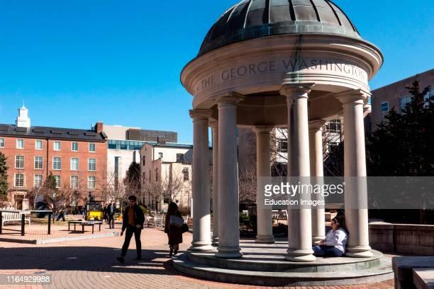 Students in Kogan Plaza, George Washington University campus, Washington, DC.