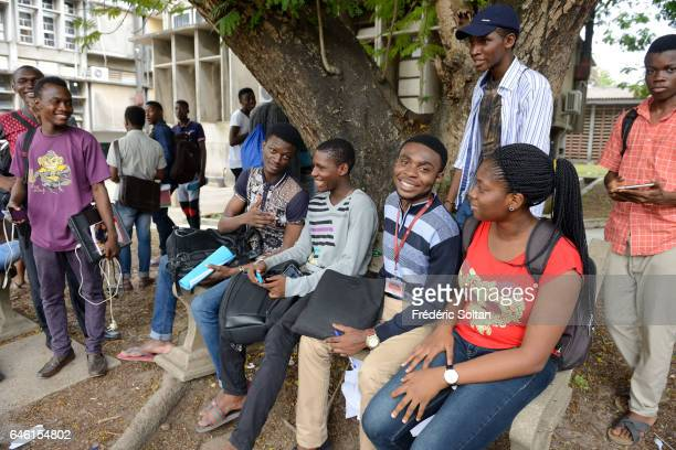 Students in Lagos university on March 10 2016 in Lagos Nigeria West Africa
