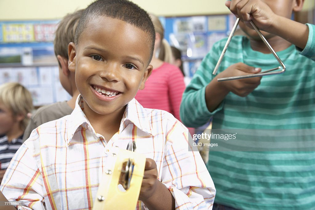 Students in music class : Stock Photo