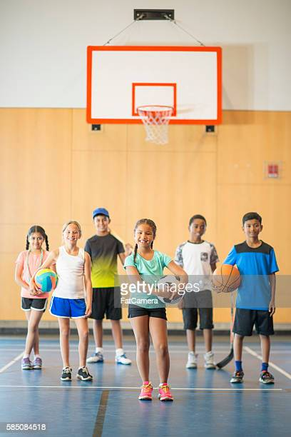 Students in PE Class