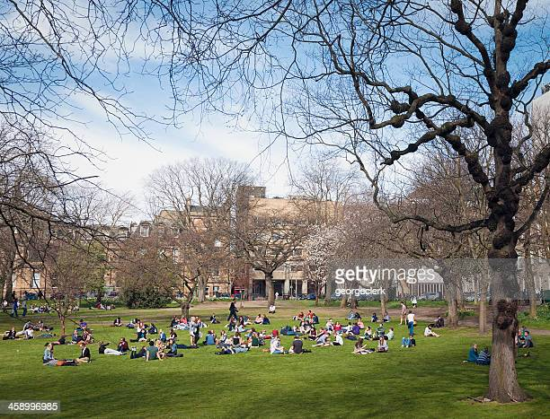 Students in Spring Sunshine