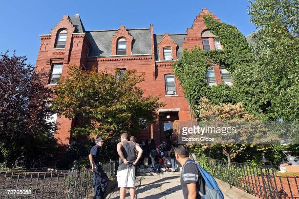 Students in the after school program at the Elizabeth Peabody House visited an apartment house located at 365 Broadway where Barack Obama lived when...