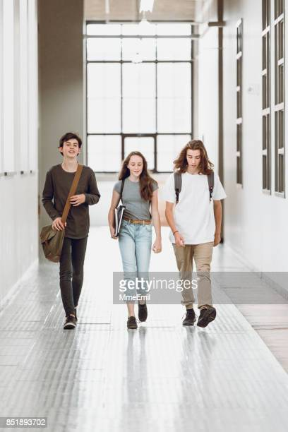 Students in the hallway