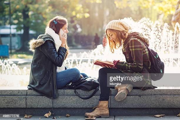 Studenten im park