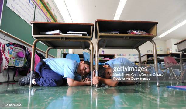 TORRANCE Students in the preschool8th grade St Catherine Laboure School in Torrance take part in the annual Great Southern California Shakeout...