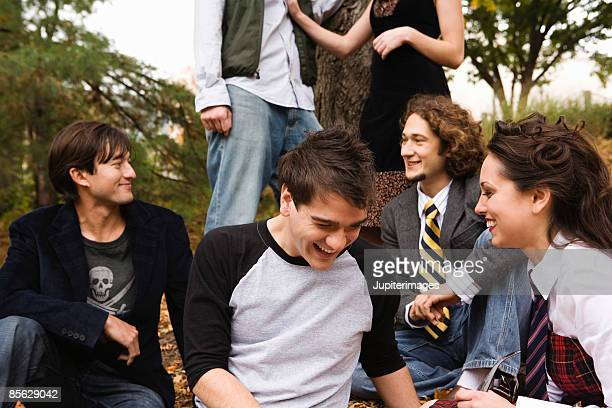 Students laughing together