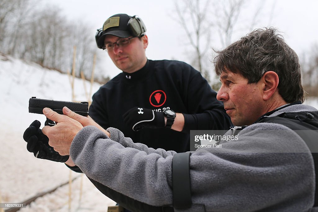 Gun Owners Train For Gun Safety And Home Defense In Connecticut : News Photo