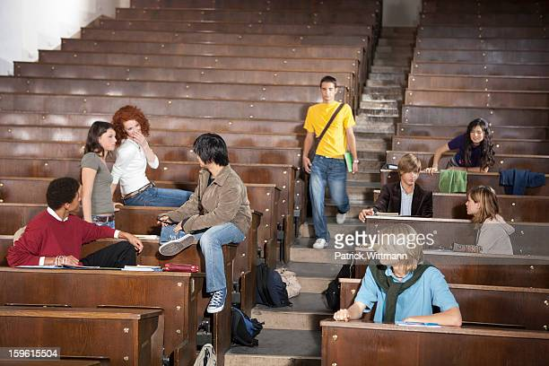 Students lounging in classroom