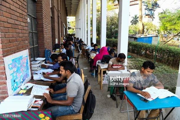 Students mostly those preparing for the public service recruitment tests study on the science faculty premises of Dhaka University.