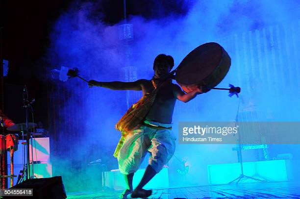 Students of Blooming cultural academy of performing arts from ManipurBHOPAL INDIA JANUARY 11 Students of Blooming Cultural Academy of Performing Arts...