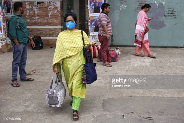 Students of Dhaka University were seen to leave campus and hostel premises after university were announced closed till 31st March 2020 as precaution...