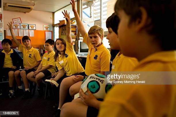 Students of Haberfield Public School participate in the ethics pilot program From left Jack Karnagan Michael McRae Leon Manjoume Miriam Waldron Alex...