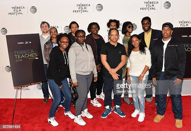 Students of Harlem Renaissance High School attend Tribeca Teaches POW Student Screening at 2016 Tribeca Film Festival at BMCC John Zuccotti Theater...