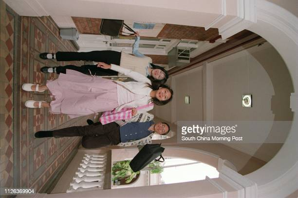 Students of Hong Kong University from left Lavinia Chan Ngaching Jacqueline Lam Yuyan and Elaine Hung Wingkei who completed career exposure project...