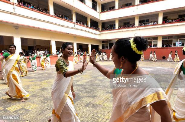 48 students of Malayalam Association from all streams of SIES College celebrate Onam by performing Kaikotukali in a quadrangle and followed by a...