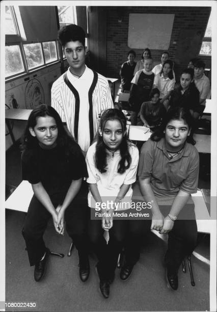 Students of Marrickville High school that have seen 'Heartbreak High' Maria Gougoumis Lina Khalil and Anthea Koygiagas Billy Papas February 17 1994