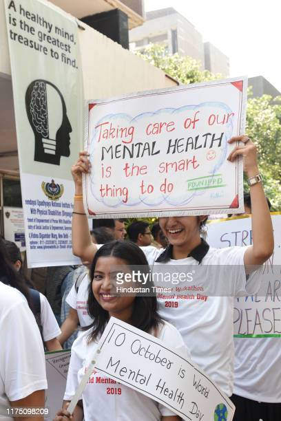 Students of Pandit Deendayal Upadhyaya National Institute for Persons with Physical Disabilities participated in a walk to observe World Mental...