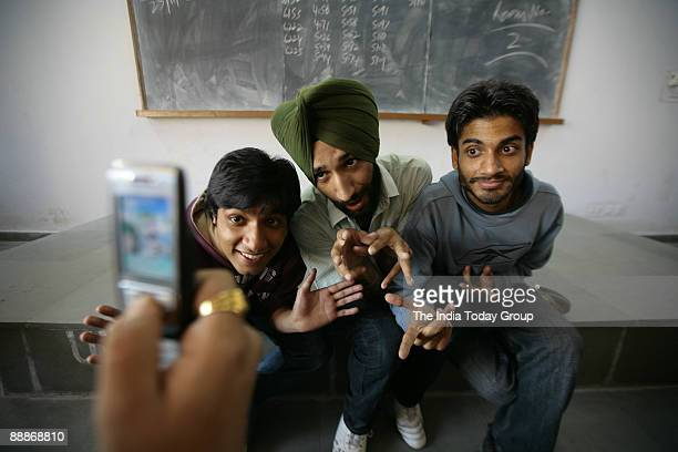 Students of Punjab University in Chandigarh, India