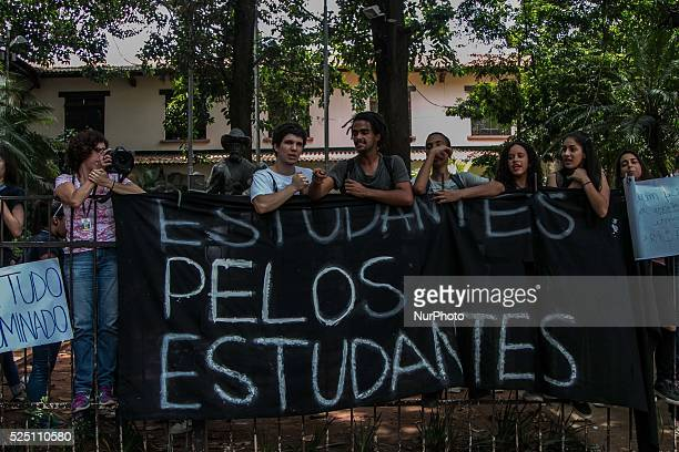 Students of State Ferdinand School Days take place in protest against the closure of sState schools in the central region of S��o Paulo Brazil on...