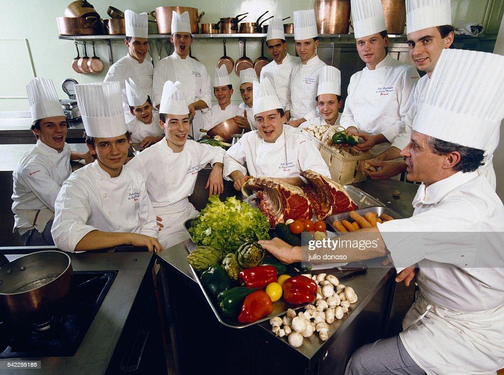 Students Of The Ecole Superieure De Cuisine Francaise Aka The