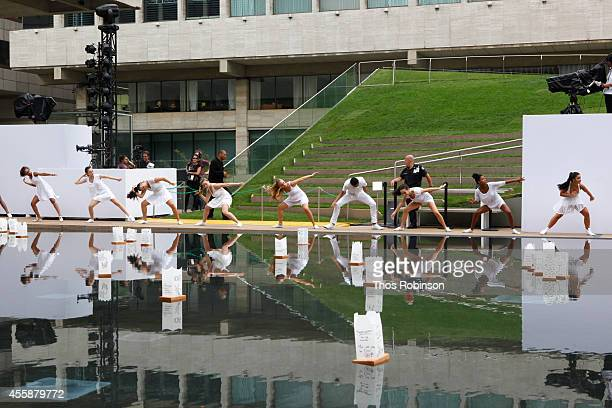 Students of The LaGuardia High School of Music Arts and Performing Arts perform at the Shinnyo Lantern Floating for Peace 2014 at Hearst Plaza...