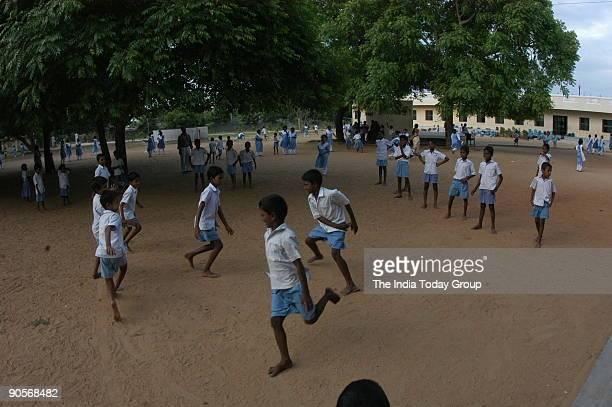 Students of the school run by Punjab Association Rural Welfare centre at Old Mahabalipuram Vaniyanchavadi in Chennai Tamil Nadu India