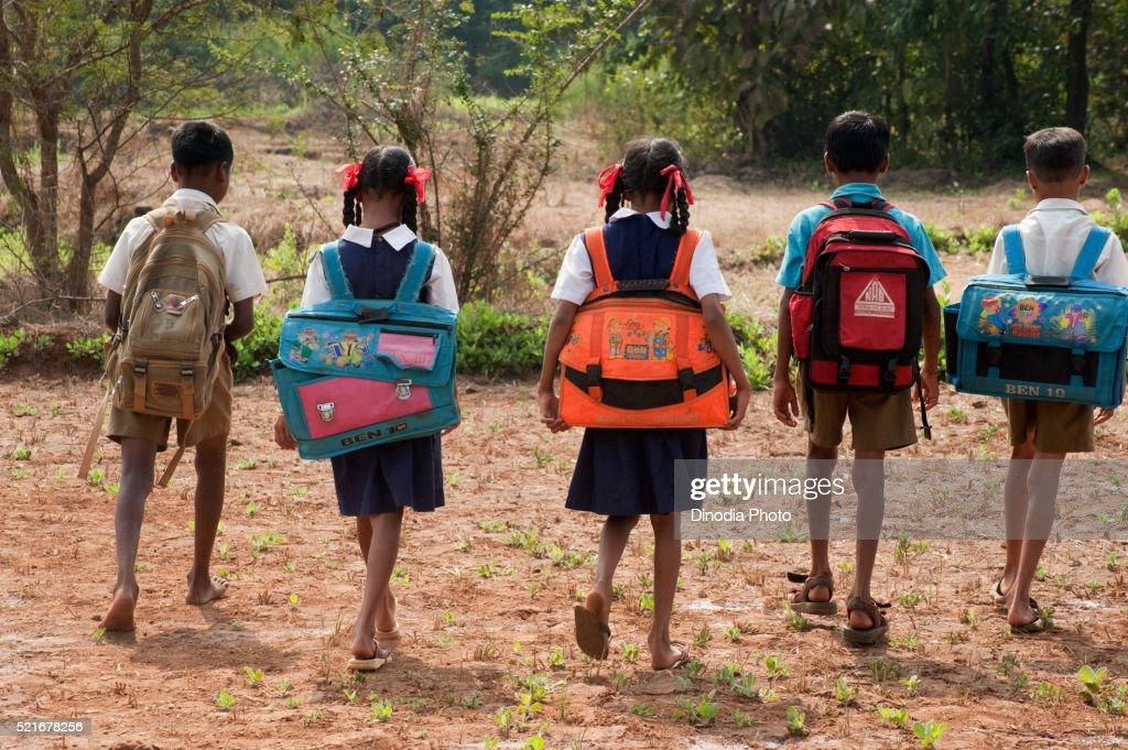 Students Of Village School In Maharashtra India Stock Photo