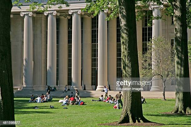 Students on campus at MIT Cambridge MA