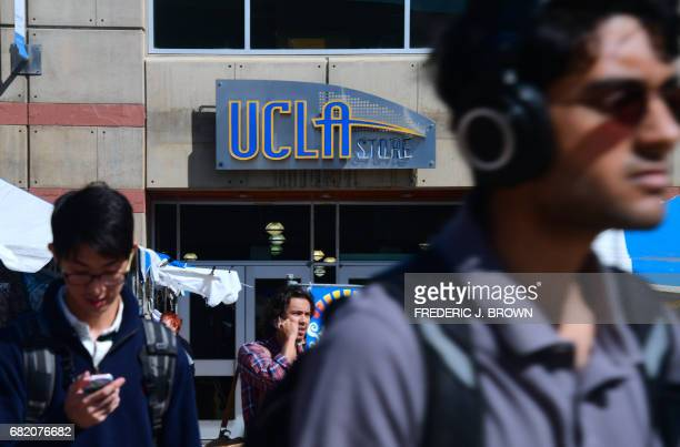 Students on campus at the University of California Los Angeles which will host the Athelete's village and provide training facilities for a number of...