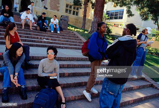 Students on Steps of UCLA Campus
