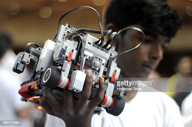 Students participate during the 10th Indian Robot Olympiad National Competition with their Robots in collaboration with National Council of Science...