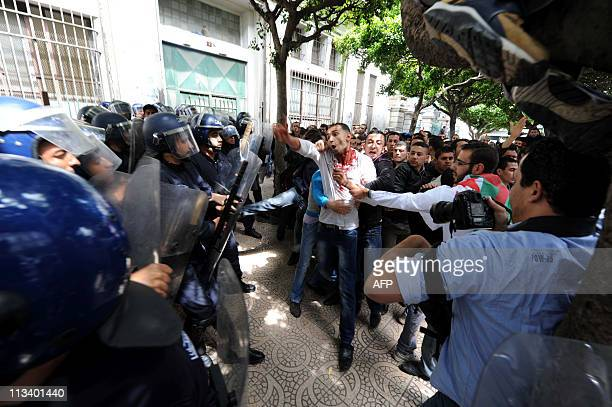 Students participate in a protest during which clashes erupted between security forces and students demanding political change, leaving at least nine...